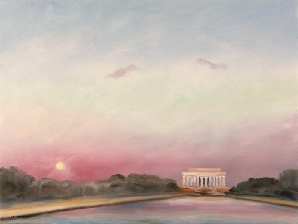 Sunset, Inauguration Day 2009, Washington, D.C. by William Van Doren