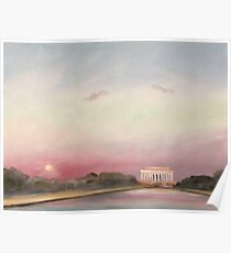 Sunset, Inauguration Day 2009, Washington, D.C. Poster