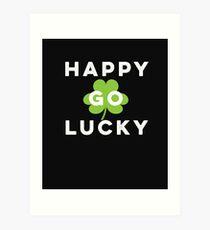 Funny Irish Happy Go Lucky St Patrick's Day Pub Crawl  Art Print