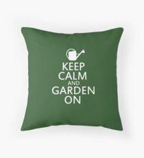 Keep calm and garden on Throw Pillow