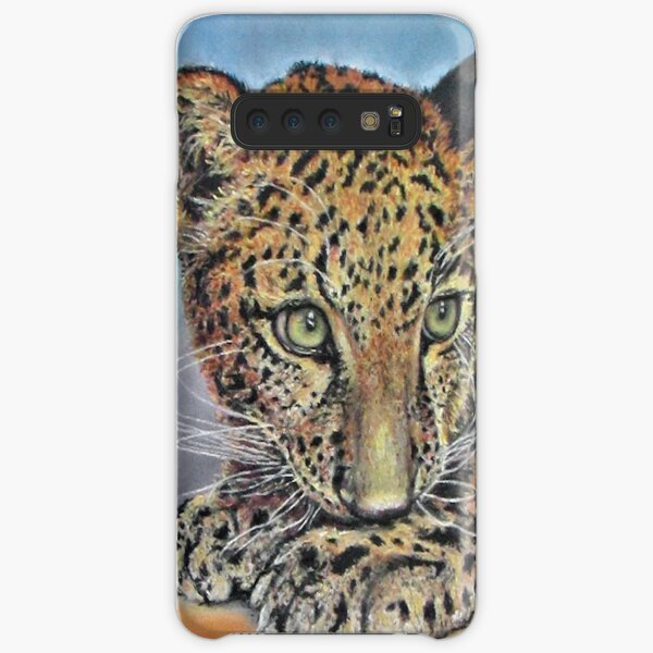 Pastel Chalk Art Leopard Cub Green Eyes Samsung Galaxy Snap Case
