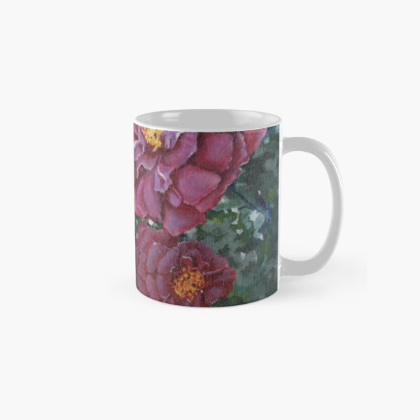 Mauve Rose Blossoms Original Artwork Painting Classic Mug