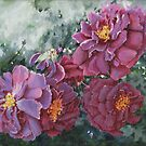 Mauve Rose Blossoms Original Artwork Painting by Jillian Crider
