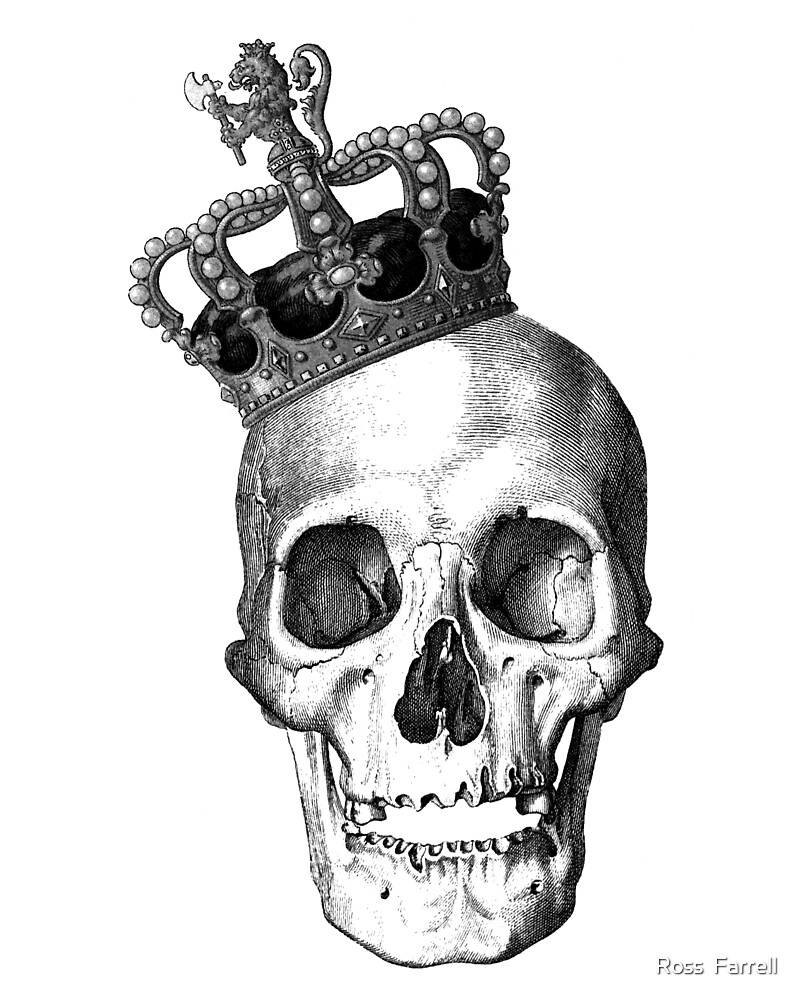 Quot Skull King Quot By Ross Farrell Redbubble
