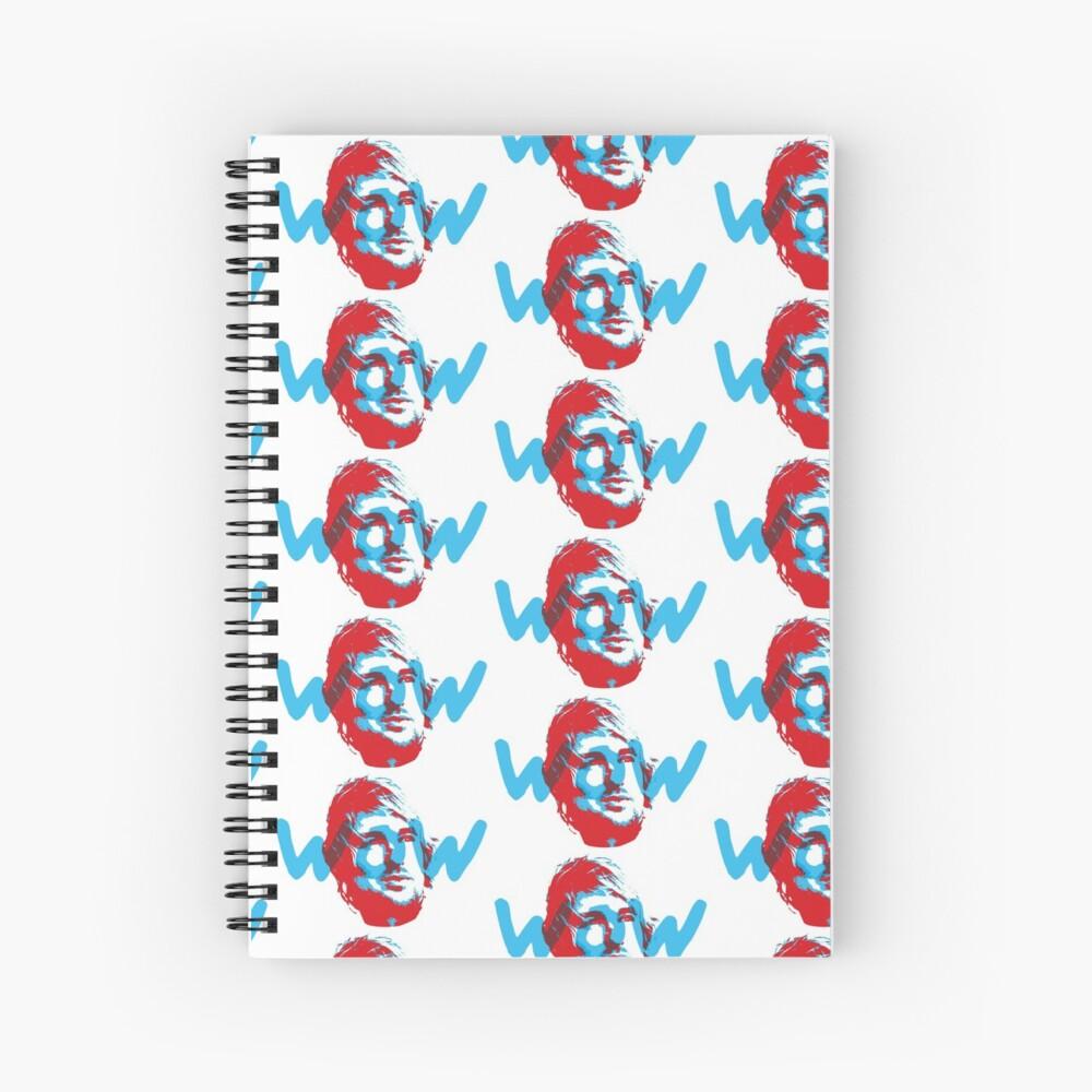 Owen Wilson Says Wow - Red Spiral Notebook