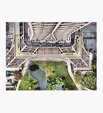 Vue de la Tour Eiffel II Photographic Print