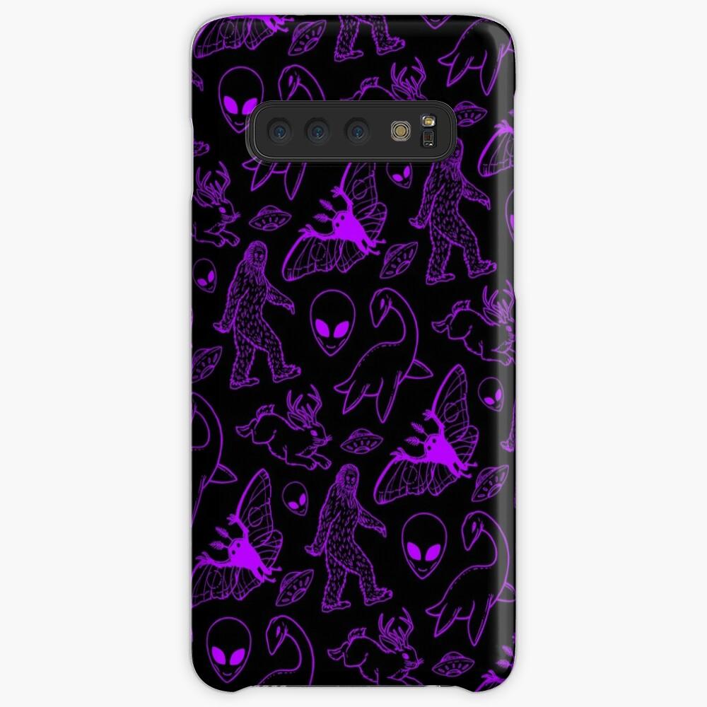Cryptid Muster (Lila Hintergrund) Hüllen & Klebefolien für Samsung Galaxy