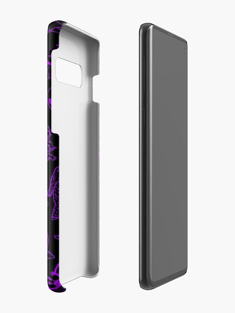 Alternative Ansicht von Cryptid Muster (Lila Hintergrund) Hüllen & Klebefolien für Samsung Galaxy