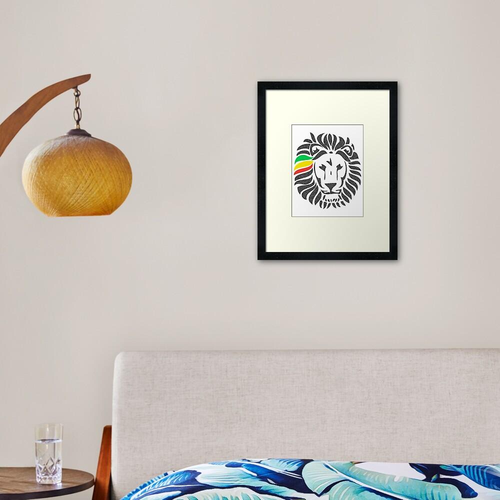 Lion Tuff  Framed Art Print