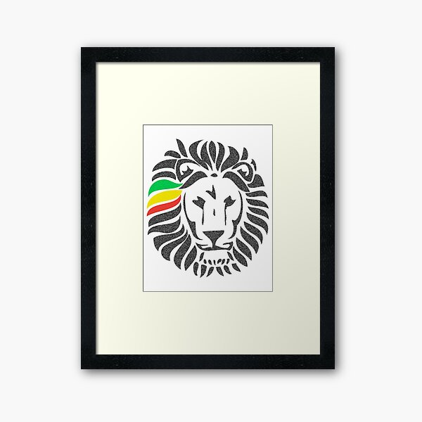 Lion Tuff  Framed Art Print