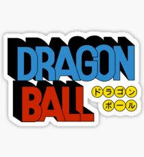 Dragonball Retro logo Sticker