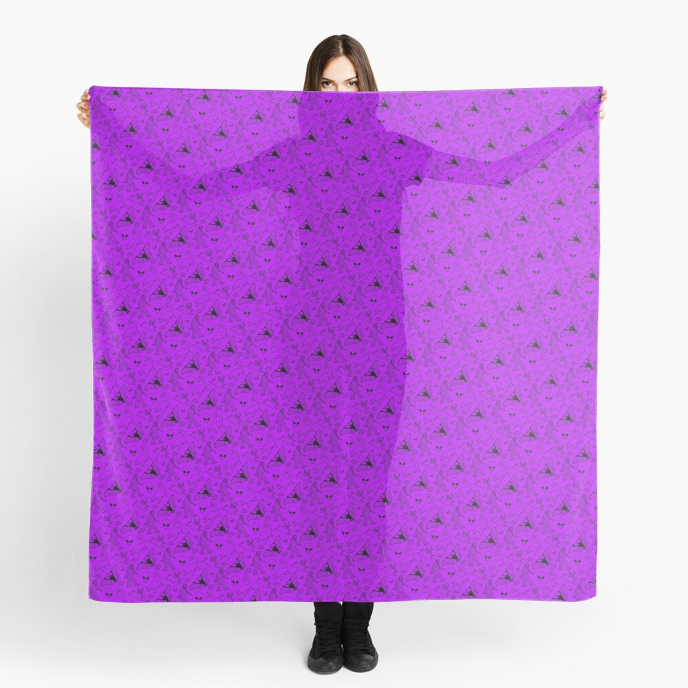 Cryptid Pattern (Purple Background) Scarf