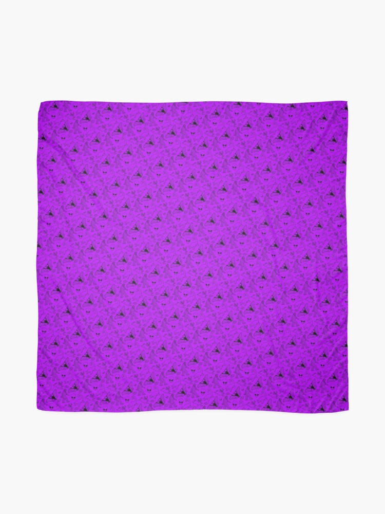 Alternate view of Cryptid Pattern (Purple Background) Scarf