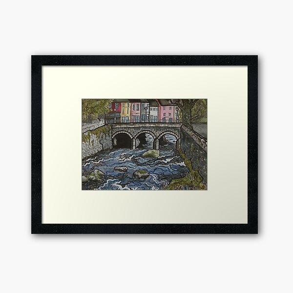 bridge over river Arra, Newcastle West, Co. Limerick, Ireland Framed Art Print