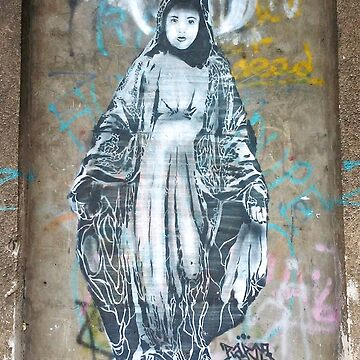 Graffiti Madonna Virgin Mary from the Street Art by tanabe