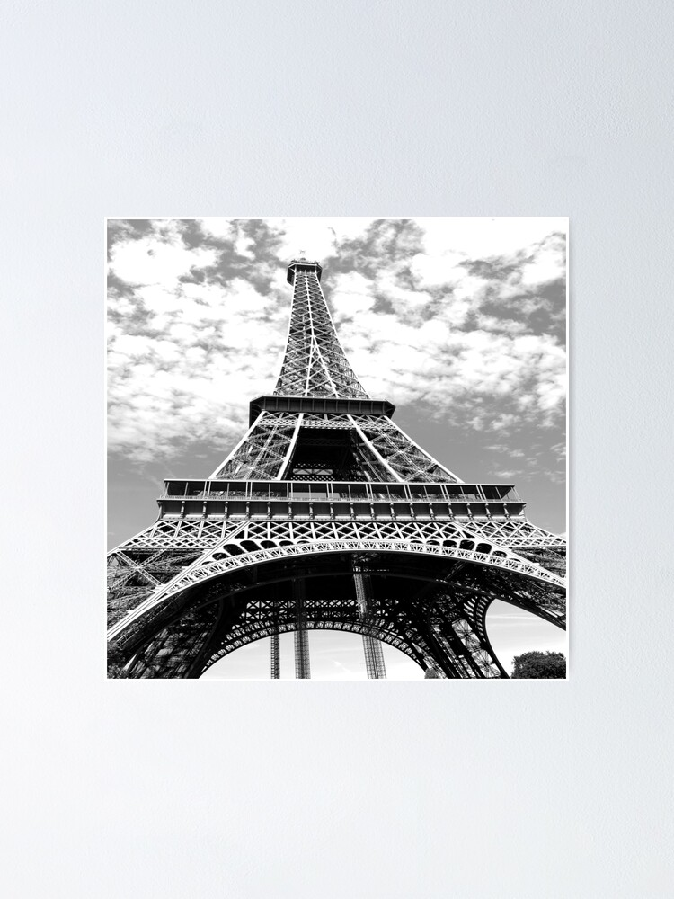 Travel Wanderlust Black White French Paris Eiffel Tower Poster By Lfang77 Redbubble