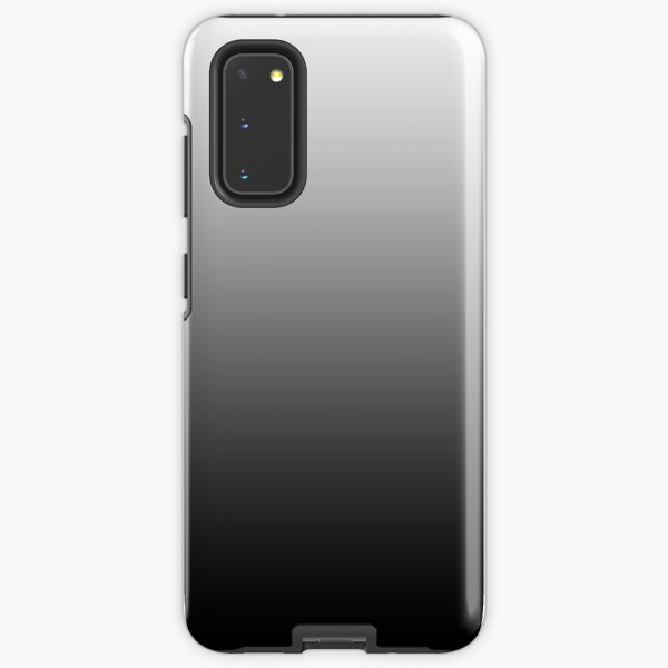 Ombre White to Black Shades of Grey Samsung Galaxy Tough Case