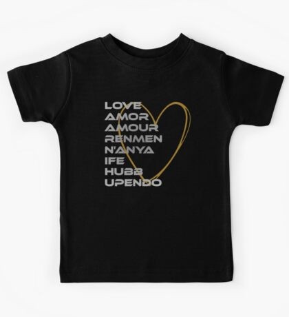 LOVE in Every Language Kids Clothes