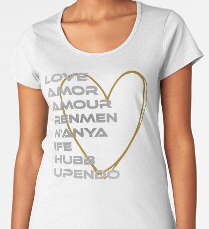 LOVE in Every Language Women's Premium T-Shirt