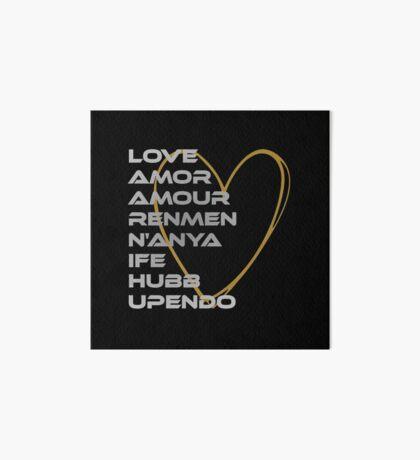 LOVE in Every Language Art Board