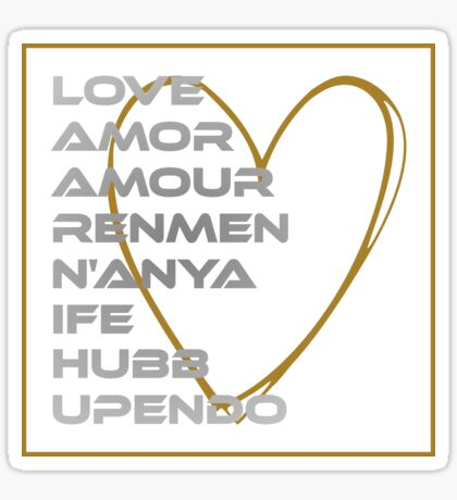 LOVE in Every Language Sticker