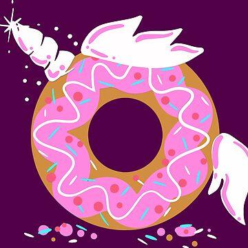 Magical Doughnut Unicorn - Dougnycorn - Donut Unicorn by Nowhereman78