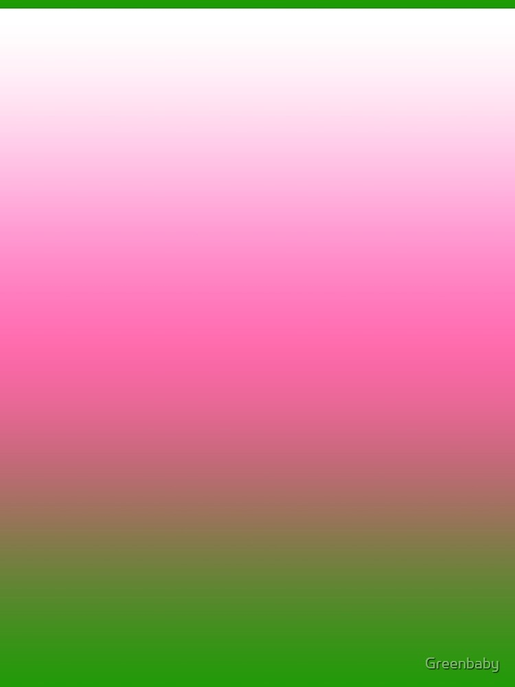 Ombre White to Pink to Green by Greenbaby