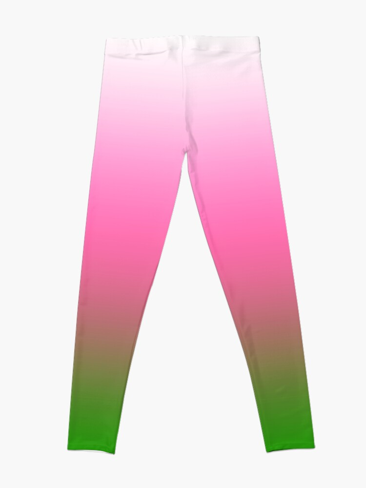 Alternate view of Ombre White to Pink to Green Leggings