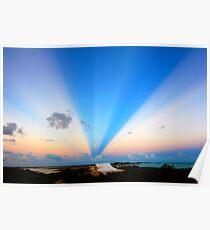 Turks & Caicos Islands Sunset Poster