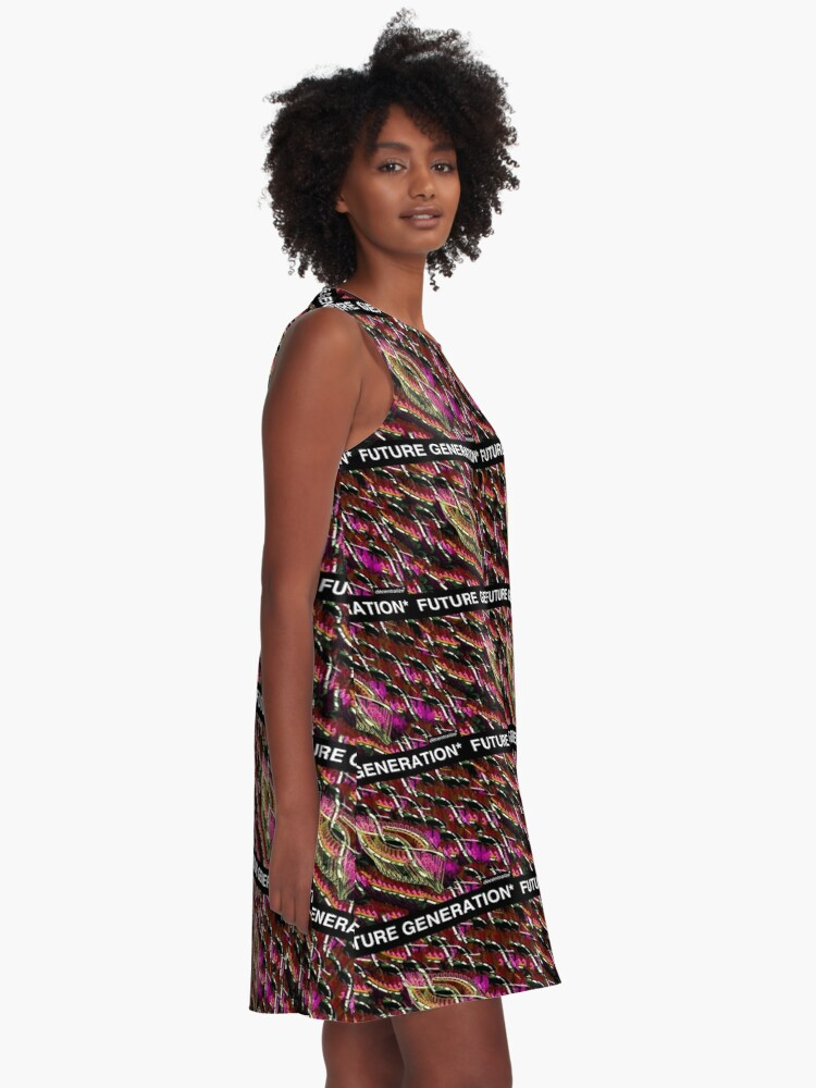 Alternate view of FUTURE GENERATION ABSTRACT DESIGN A-Line Dress