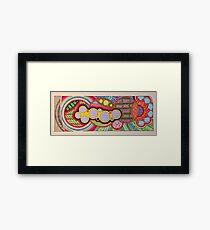Zentangle Graphism Framed Print