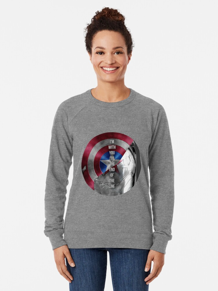 Alternate view of with you 'til the end of the line Lightweight Sweatshirt
