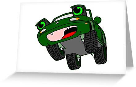 Chibi Mazda Miata NA - Green by MazdaTiger