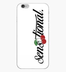 "[blk text] ""sensational"" cherry iPhone Case"