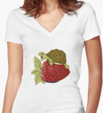 Turtle Berry Women's Fitted V-Neck T-Shirt