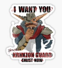 Join the Krimzon Gaurd Sticker