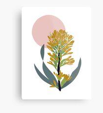 Astra Dawn Floral Metal Print