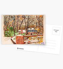 Winter House Postcards