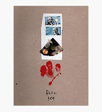 Blau Rot Photographic Print