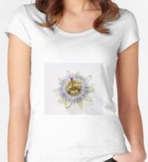 Isolated Bluecrown Passiflora Women's Fitted Scoop T-Shirt