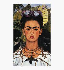 Frida Kahlo Selbstporträt mit Kolibri Fotodruck