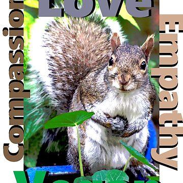 Vegan Love Compassion Empathy by VeganBear