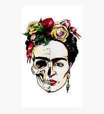 Frida Kahlo Halbschädel Fotodruck