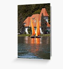 Worther See - Orange Sails Greeting Card