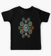 Abstract Mixed Media Series Flowers 01 Kids Tee