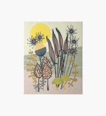 Vintage Garden Sunrise Art Board Print