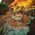Sunset at the base of Uluru by Kevin McGennan