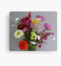 Color my life flowers vase Metal Print