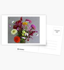 Color my life flowers vase Postcards