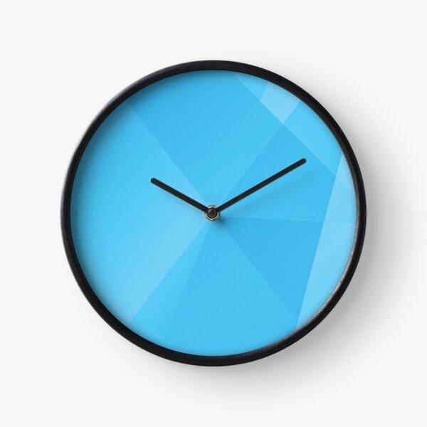 Geometric Blue Moon Clock